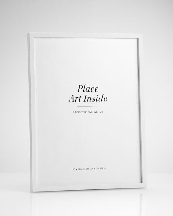 cadre blanc 30 x 40 cm