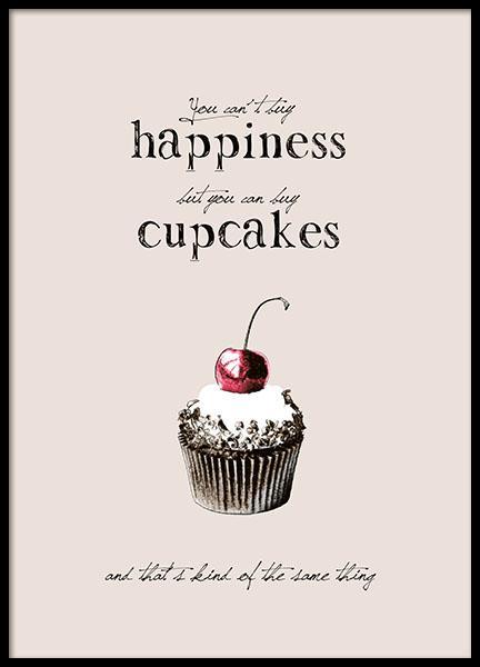 posters med retro motiv till inredning, cupcakes och retrostil
