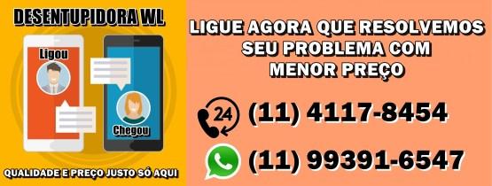 Desentupidora em Guarulhos 24 horas