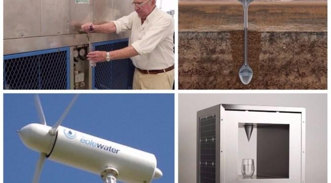 Água potável: 4 inventos que convertem energia elétrica, solar e eólica em água