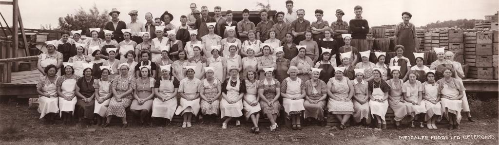 Staff of Metcalfe Foods, 1930s