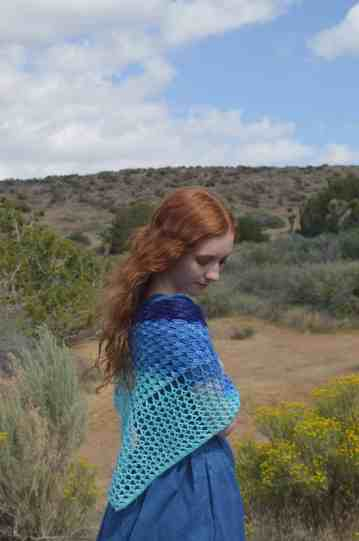 Wave shawl