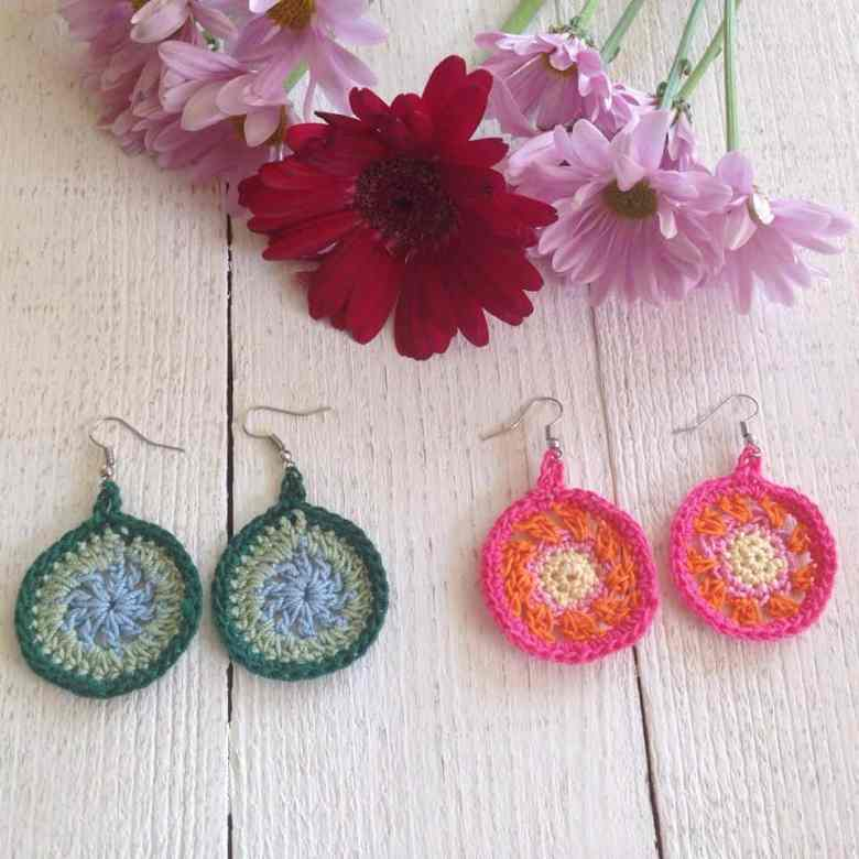 crochet thread earrings pattern
