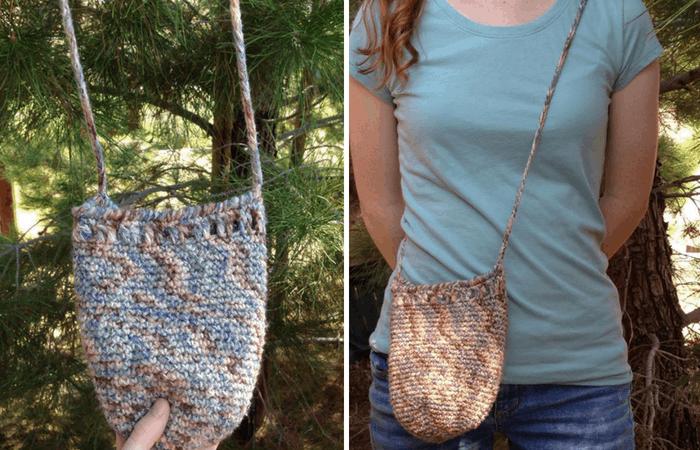 woodland crochet bag
