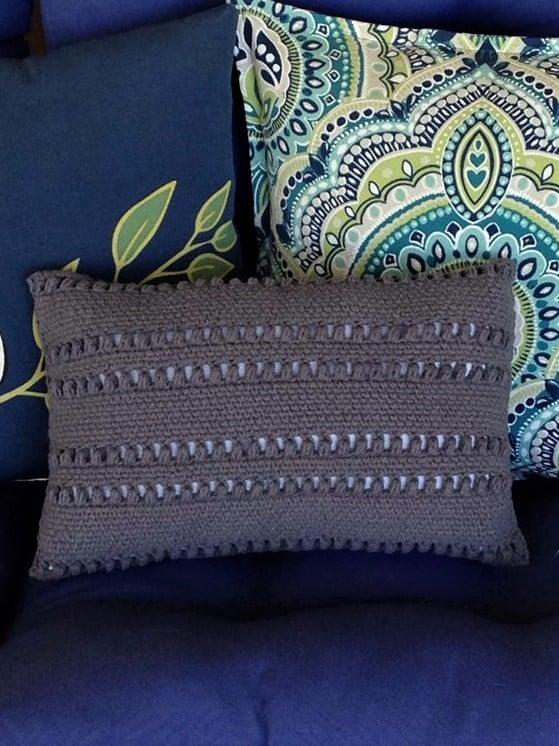 Knit Look Pillowfree Crochet Pattern