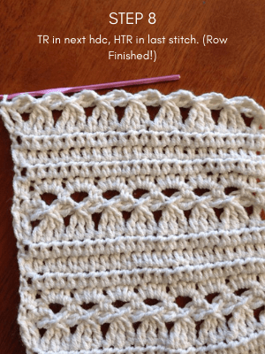 How to crochet the pansy stitch