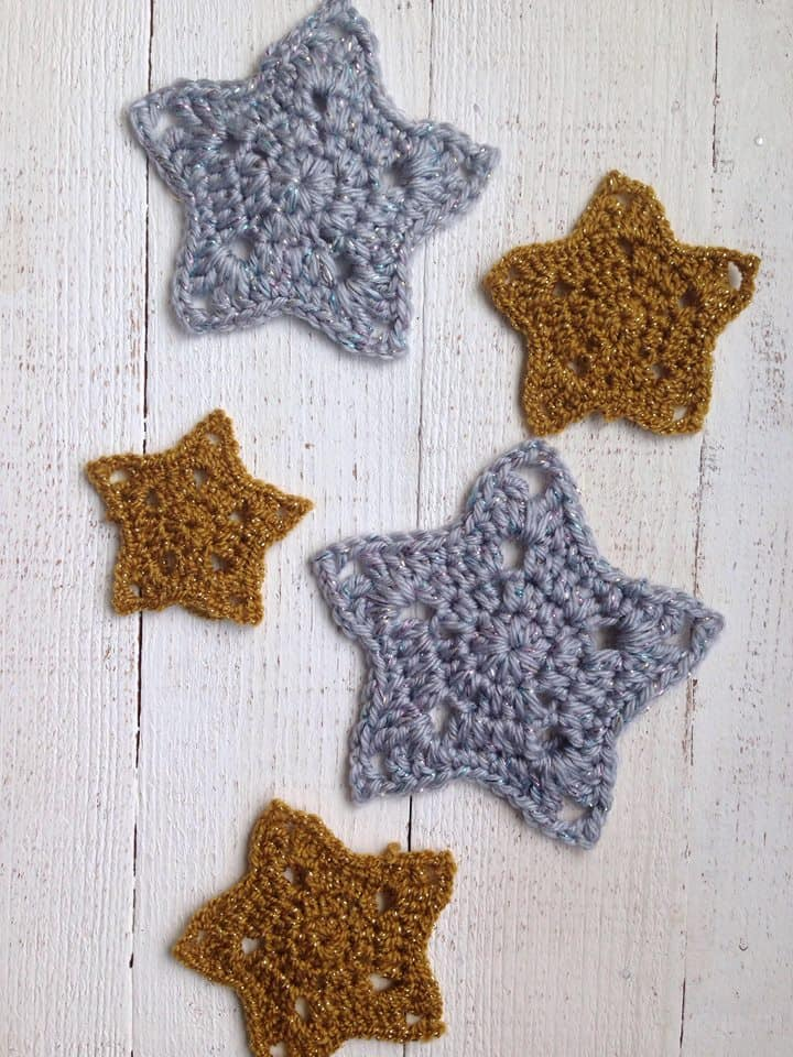 Crochet Star Ornaments - Free Pattern