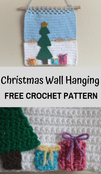 Christmas Wall hanging—free crochet pattern