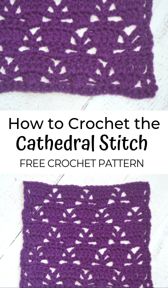 how to crochet the cathedral stitch—free crochet pattern
