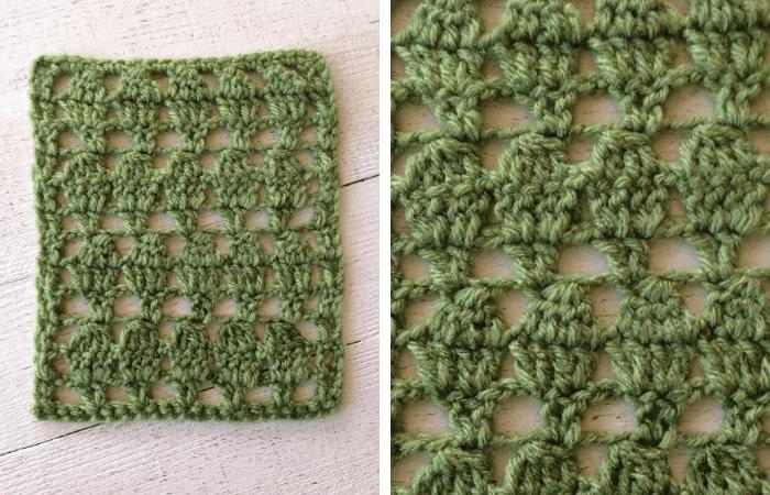 how to crochet the foliage stitch—free crochet pattern
