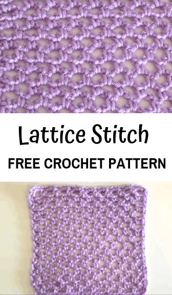 how to crochet the lattice stitch—free crochet pattern