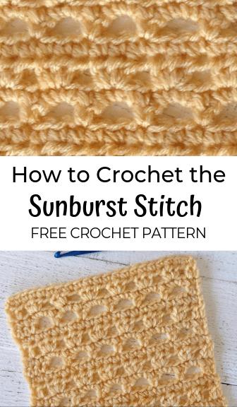 how to crochet the sunburst stitch—free crochet pattern