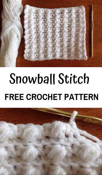 how to crochet the snowball stitch—free crochet pattern