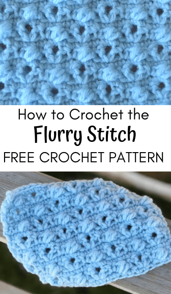how to crochet the flurry stitch