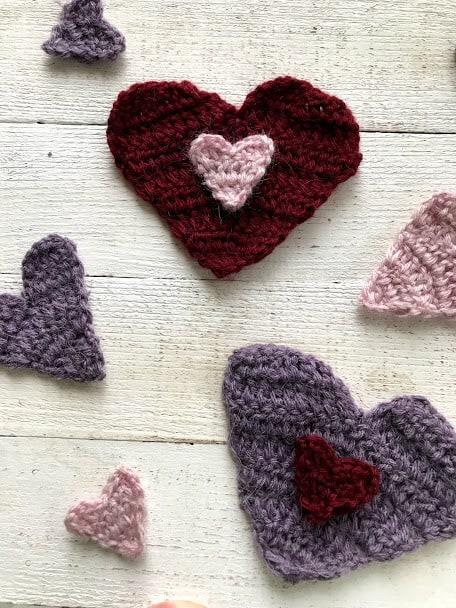 crochet hearts—free pattern