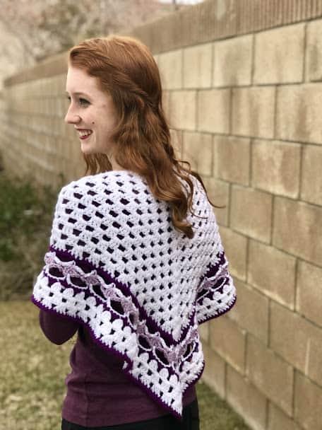 Helena granny shawl crochet pattern