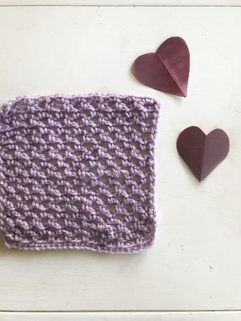 how to crochet the lattice stitch