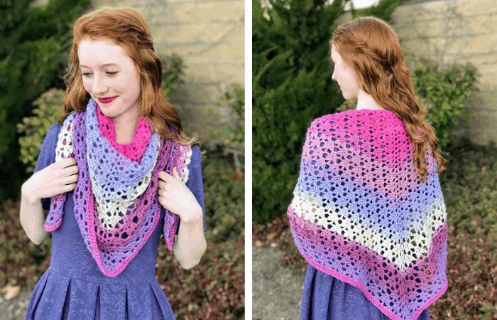 the amore shawl—free crochet pattern