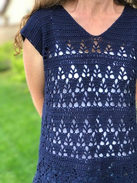 Lunar Lace Tunic—Free Crochet Pattern