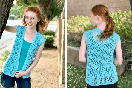 Summer breeze vest—free crochet pattern