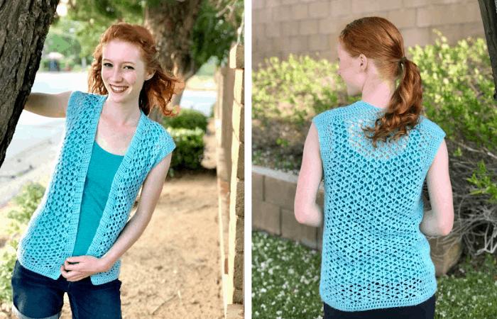 Summer breeze vest - stroll fingering pattern