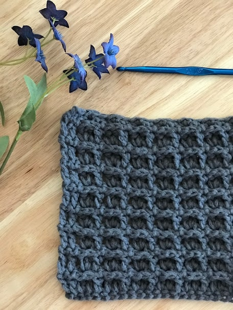 How to crochet the windowpane stitch