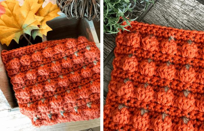Pumpkin patch stitch - textured bobble stitch