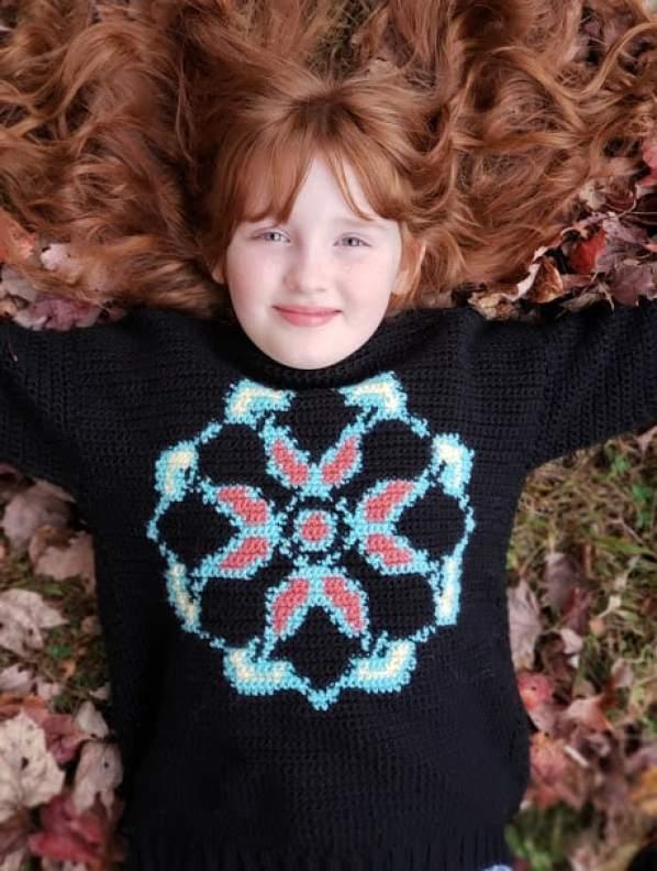 Mandala Pullover Color Work