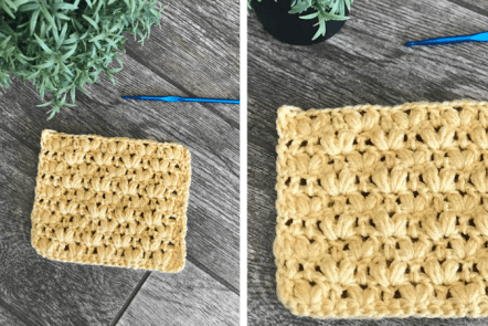 how to crochet the alternating puff v-stitch