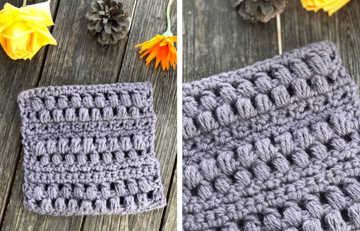 crochet pinecone stitch