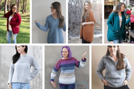 15+FREE Cozy Crochet Sweater Patterns