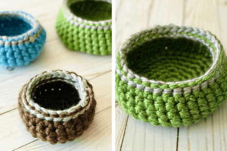 Crochet Basket Pattern in 3 Sizes - Free & Easy!