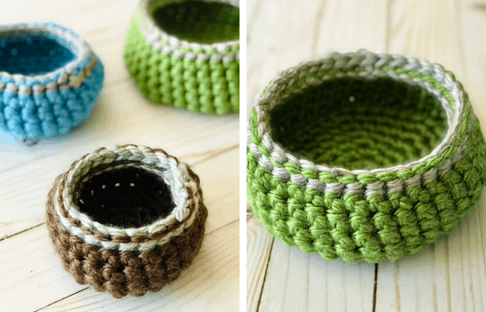 Hometown USA yarn crochet basket pattern