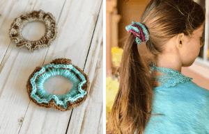 Two-Toned Scrunchies—FREE CROCHET PATTERN