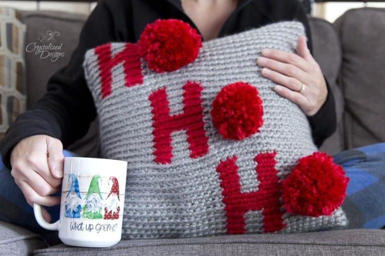 crochet christmas pillow pattern