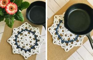 Hot Pad Crochet Pattern - 30 Minute trivet