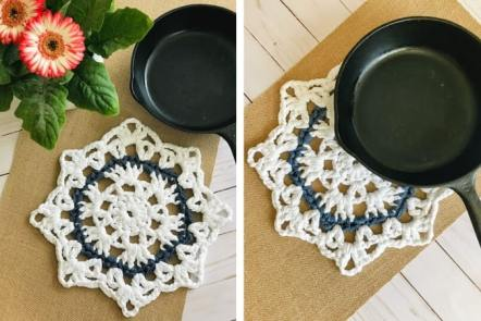 Hot Pad Crochet Pattern - 30 Minute trivet