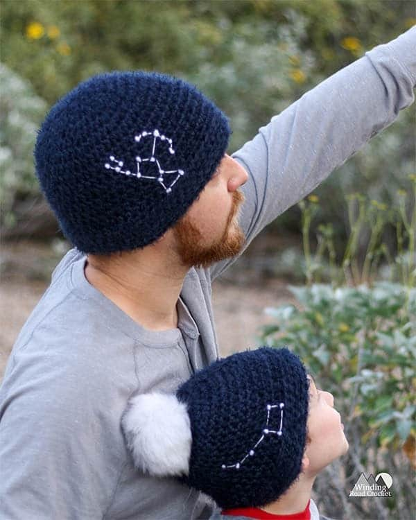 mens crochet beanie gift