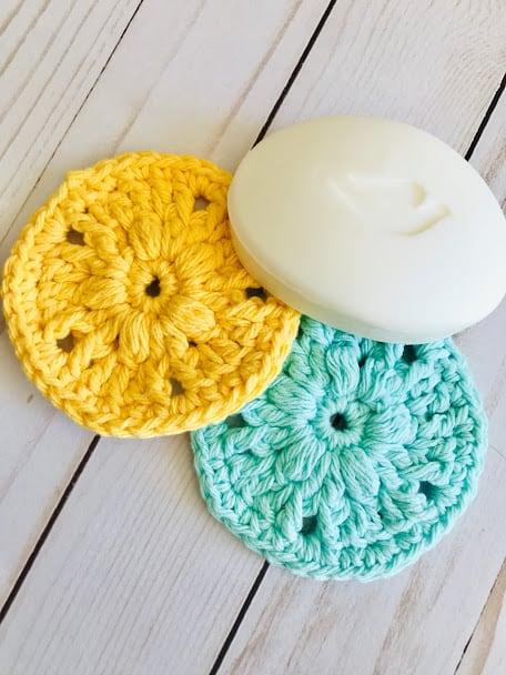 crochet face scrubbie pattern