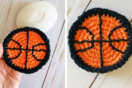 Crochet Basketball Scrubbies - Free Pattern for Boys