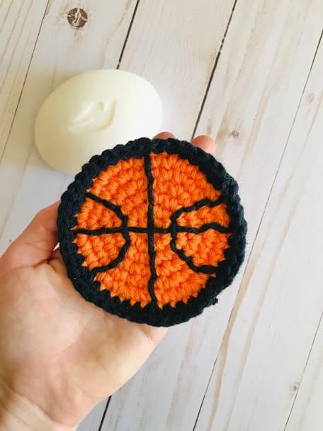 Crochet Basketball Scrubbies - Free Pattern for Boys