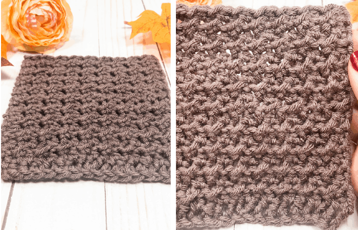 Crunch stitch - Simple crochet stitches for scarves