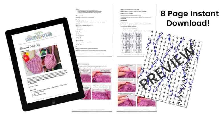 Diamond Stitch Bag PDF PATTERN