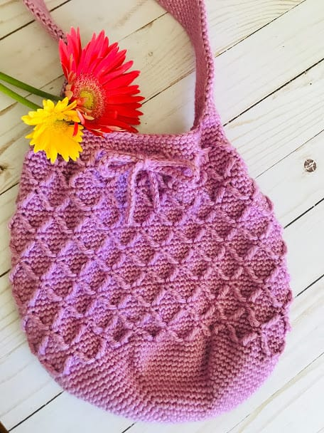 Diamond Stitch Bag - FREE Crochet Pattern
