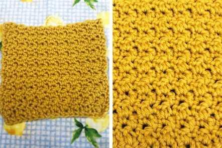Lemon Peel Stitch Crochet Tutorial