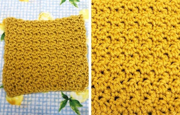 Lemon Peel Stitch - quick crochet stitches for scarves