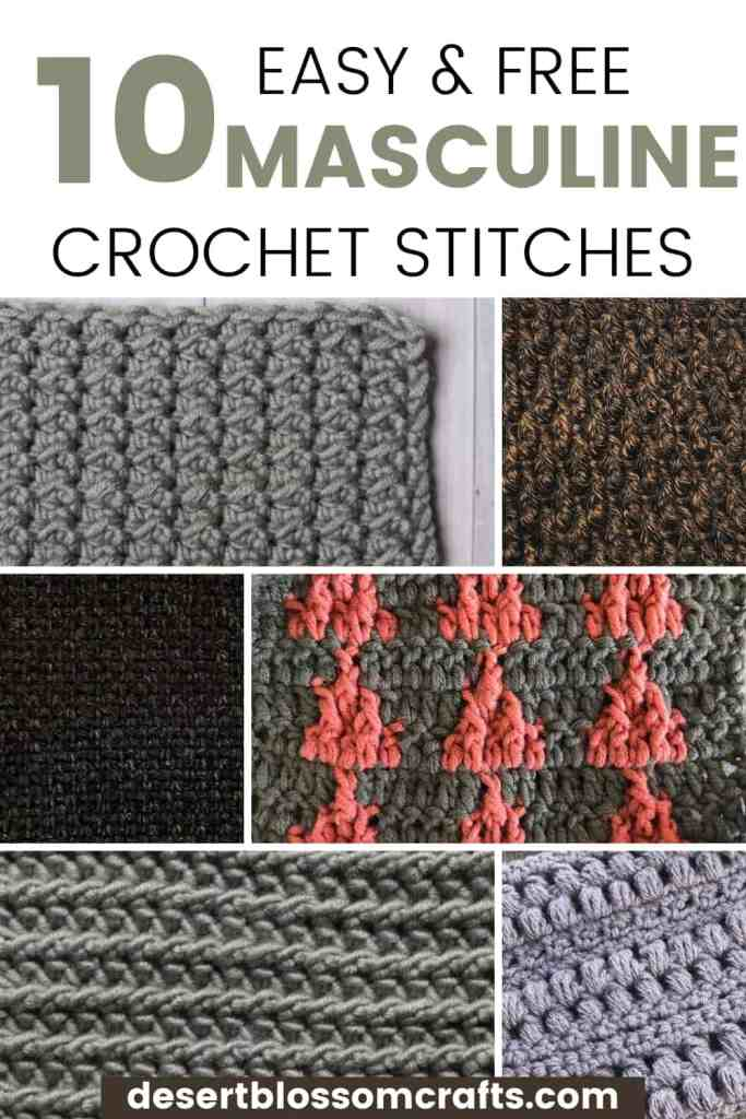 10 Masculine Crochet Stitches to Make into Men's Scarves & Blankets