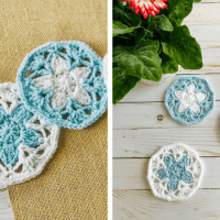 Beautiful Crochet Lace Coaster Pattern—Forget Me Not Coasters (FREE!)