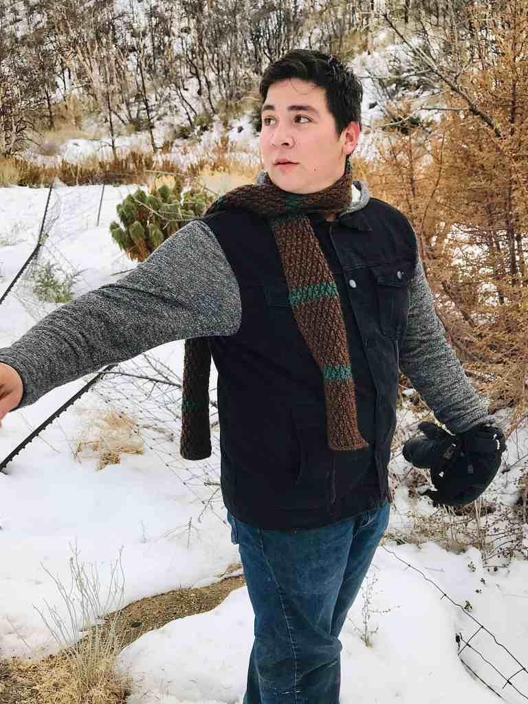 crochet scarf pattern for men