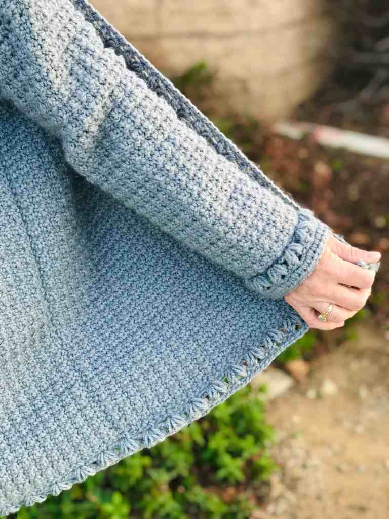 crochet sweater sleeve